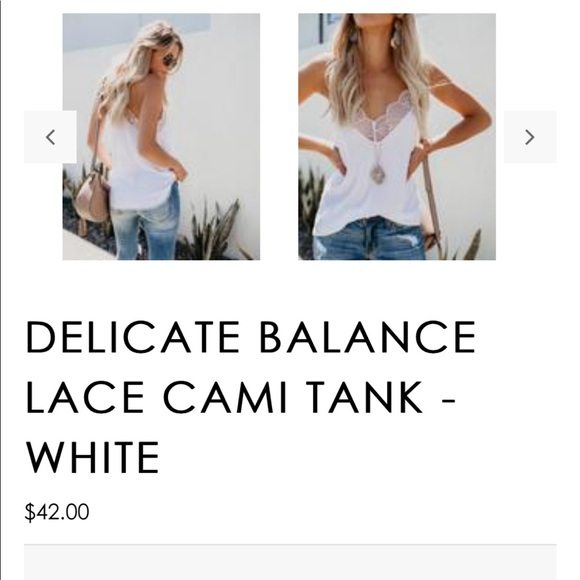 fb1208ba5567c Vici Delicate Balance Lace Cami Tank